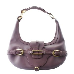 Jimmy Choo Tulita Purple Leather Hobo 162707